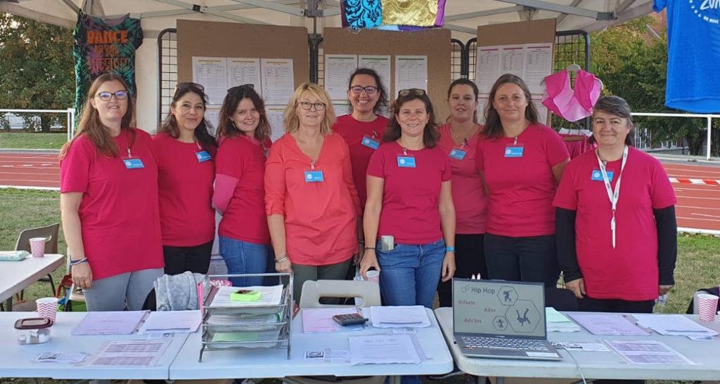 Les bénévoles du Bureau de l'association Arcy Danses (de gauche à droite) : Eugénie, Stéphanie, Sophie, Sylvie, Alice, Laure, Pauline, Sandrine et Nadine